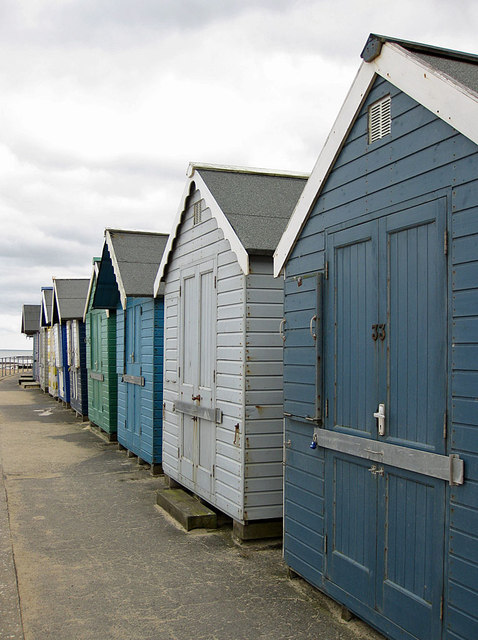 The last few beach huts