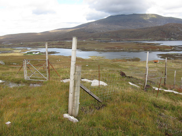 Fence above Loch Eynort