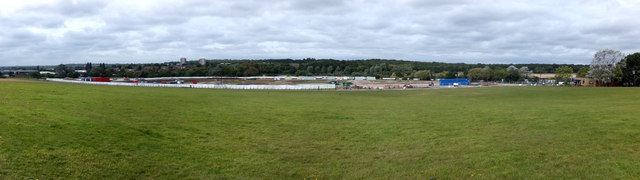 Panorama of the Snoozebox site at Hainault Forest Country  Park
