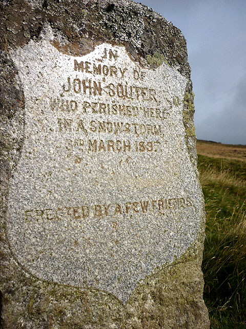John Souter memorial stone inscription, Badyo