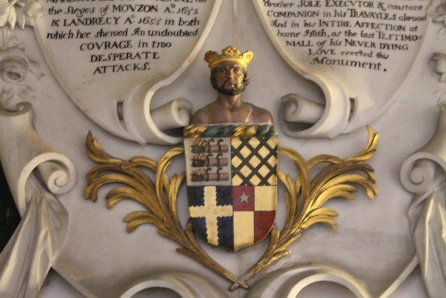Coat of arms on Richard Bertie Memorial, Edenham church