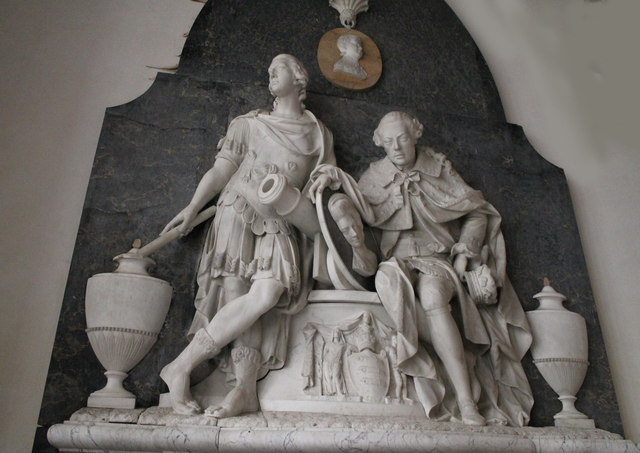 Memorial to 3rd & 4th Dukes of Ancaster, Edenham church