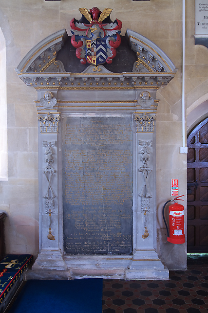 St Mary's church, Shapwick - monument to Henry Bull