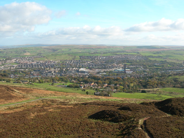 View east from Jubilee Tower - Darwen Hill