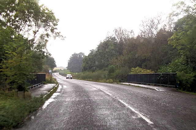 A489 at Myndmill Bridge