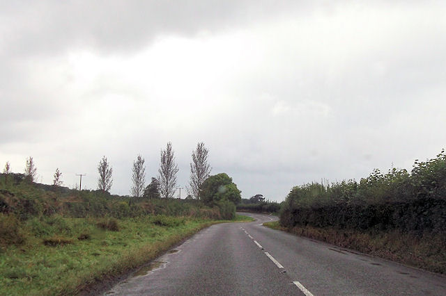 A489 bends south of Eaton