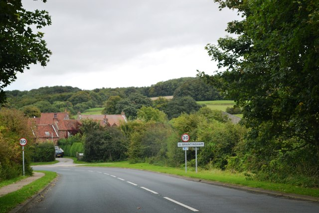 Entering Brantingham from the south west