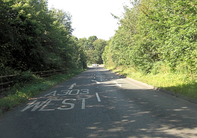 Slip road approaches A303 interchange