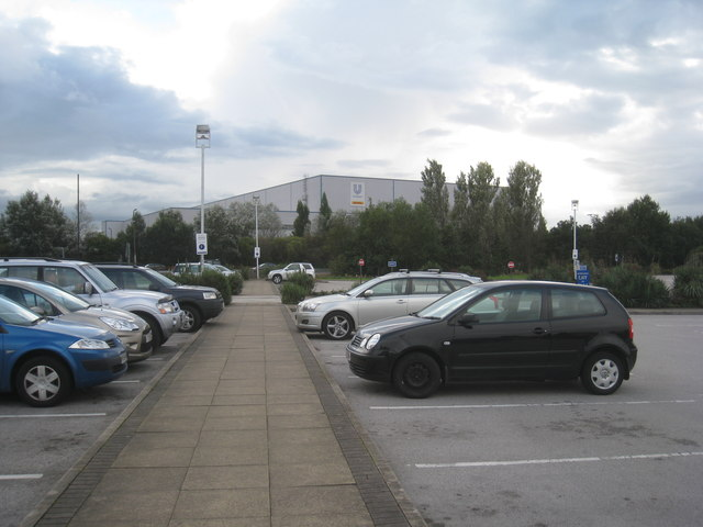 Carpark and warehouses