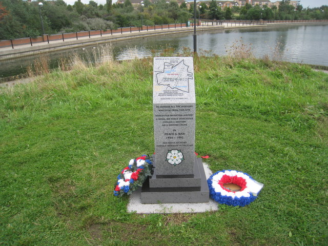 Commemorative stone, Doncaster Lakeside