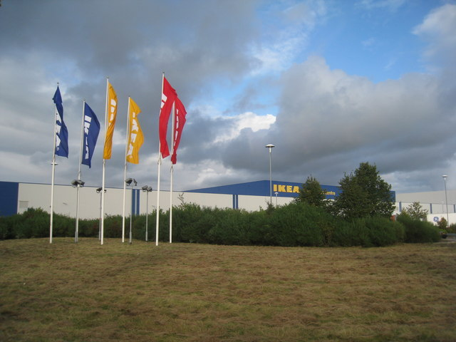 Flying the IKEA flags