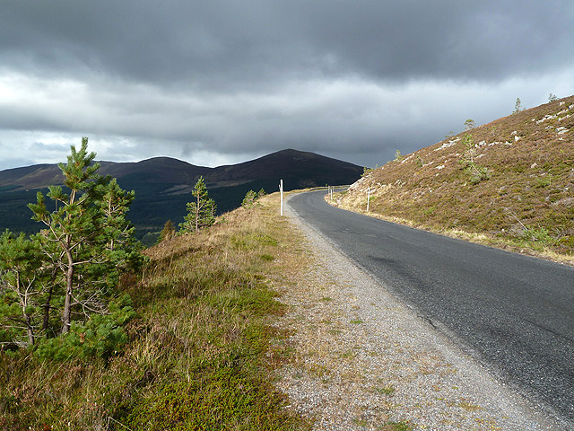 The access road to the Cairngorm Ski Centre