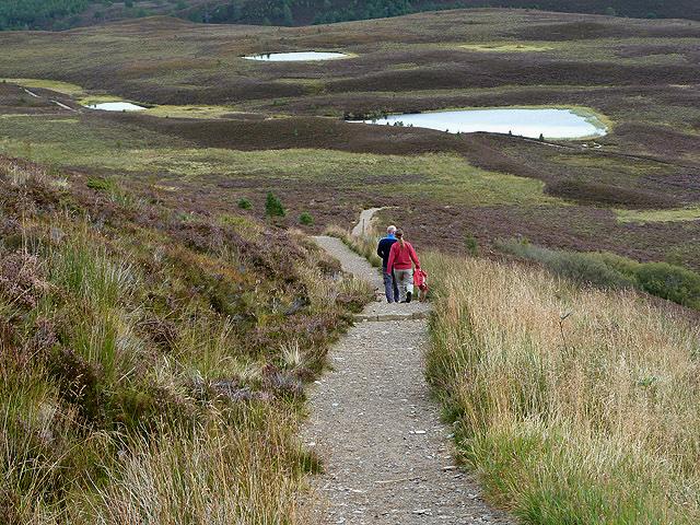A path on Meall a' Bhuachaille