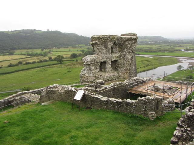 Remains of Dryslwyn castle