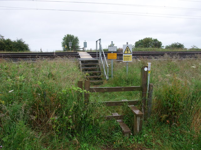 'Fishers Back Road' crossing the East Coast main line