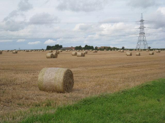 View towards The Ruddings Farm