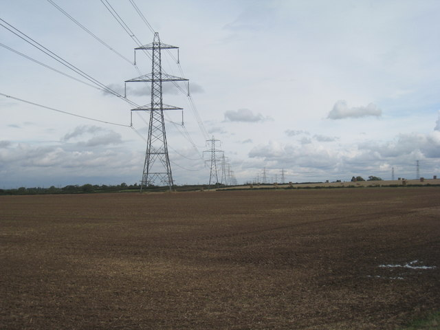 Power lines near Weston