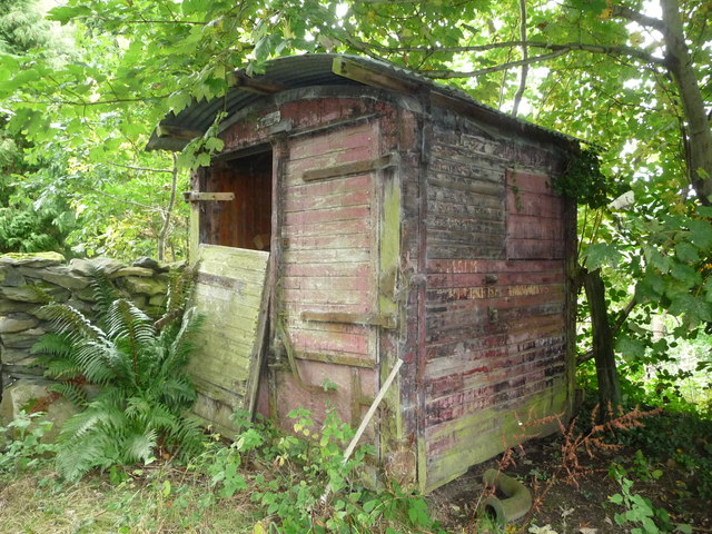 Old British Railways wagon shed below Moel Bentyrch
