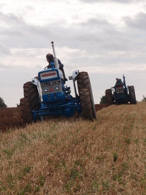 Roadless tractors ploughing