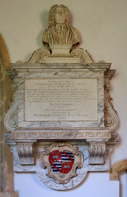 St Edward's church, Goathurst - monument to Sir John Tynte
