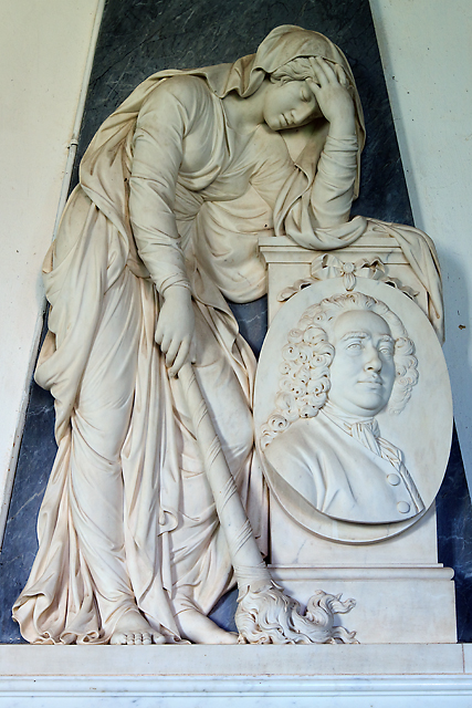 St Edward's church, Goathurst - monument to Sir Charles Kemeys Tynte (detail)