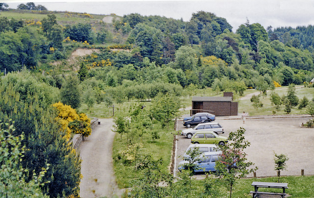 Site of Craigellachie station, 1988