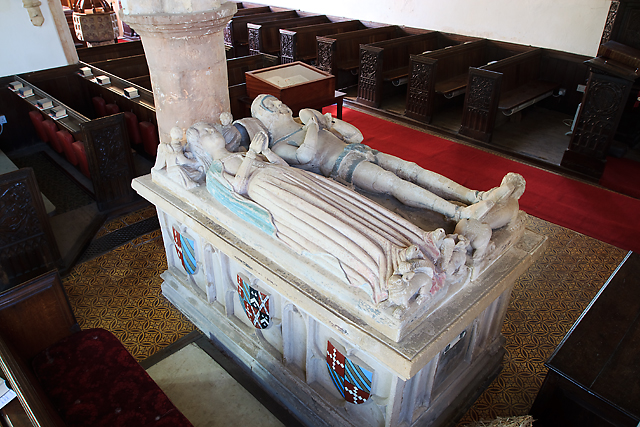 Church of St Thomas of Canterbury, Cothelstone - monument to a knight and his lady