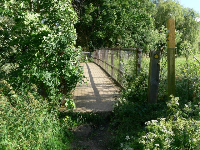 Footbridge across the River Wreake