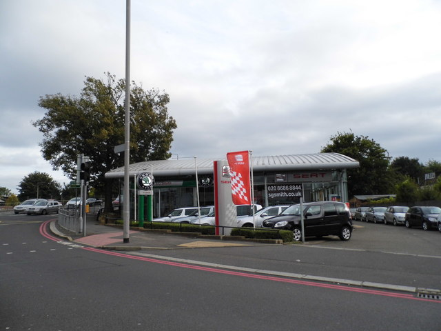 SEAT garage on the corner of Croydon Road, Waddon