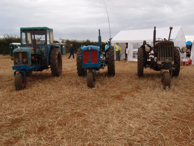 Three three wheeled Fordson tractors