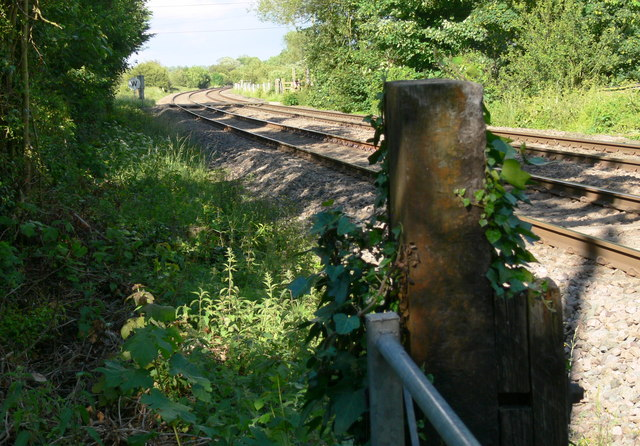Railway line near Frisby on the Wreake