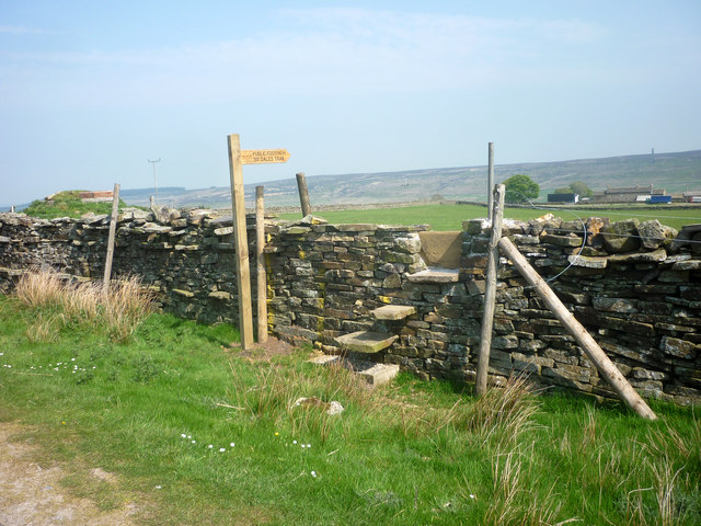 Stone stile and Fingerpost