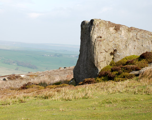 Wedge shaped Rock at Combs Crags