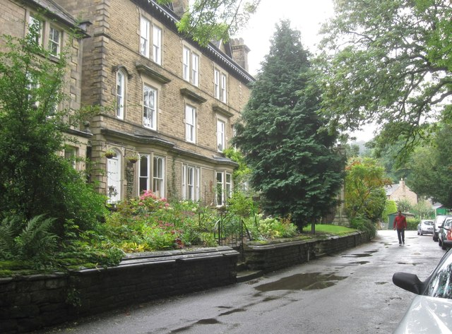 Elegant houses at Matlock, Derbyshire