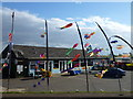 TF6533 : Kite shop at Snettisham beach by Richard Humphrey