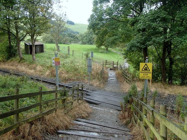 Footpath across railway