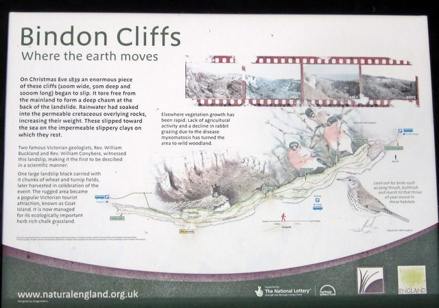 Noticeboard, Bindon Cliffs