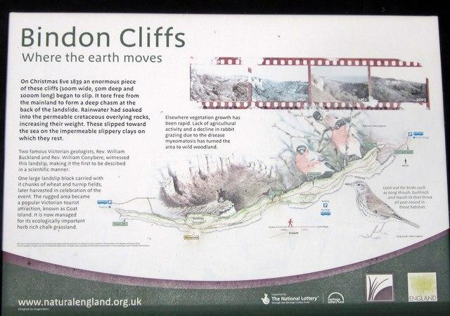 Noticeboard, Bindon Cliffs