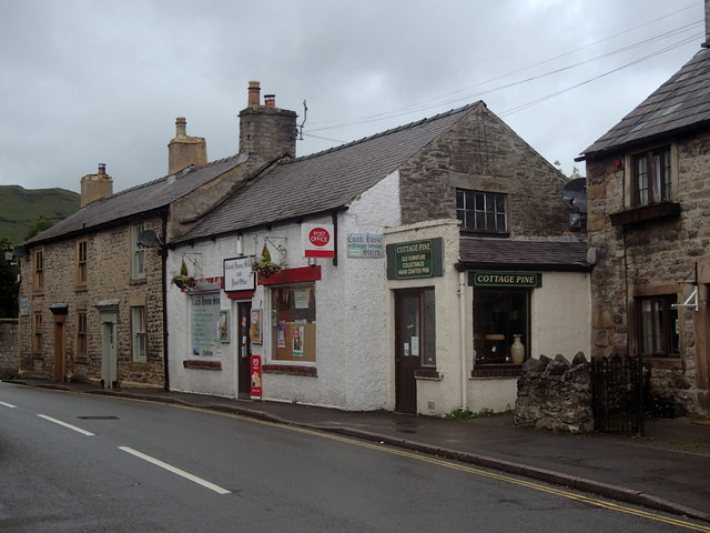 Post office and houses, Castleton