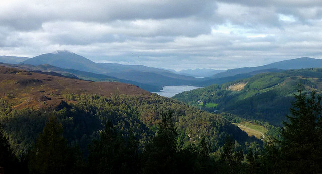 The view of Strathtummel from Craigower