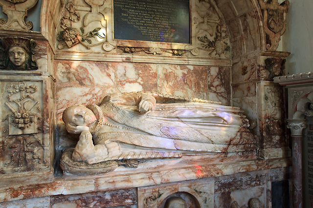 Church of St Peter & St Paul, Bishops Hull - monument to George Farewell (2) detail