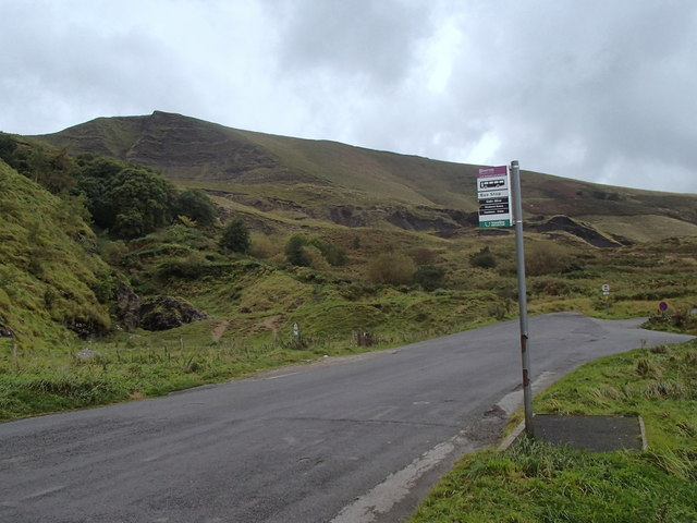 Bus stop below Mam Tor