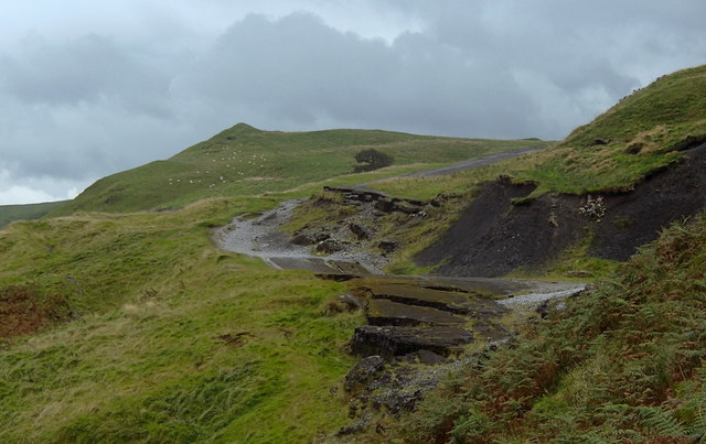 Old road below Mam Tor