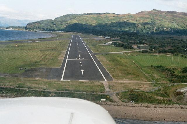 Oban airport: aerial 2007