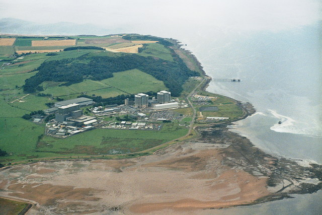 Hunterston nuclear power station, aerial 2007