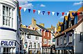 SY3492 : Lyme Regis: Bunting in Broad Street : Week 40