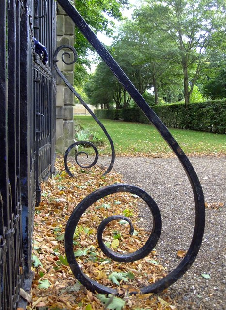 Wrought-ironwork at Ham House (2)