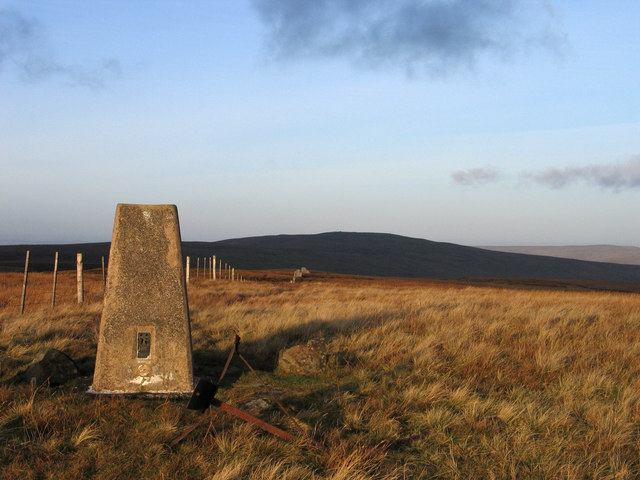 Trig point on Black Fell