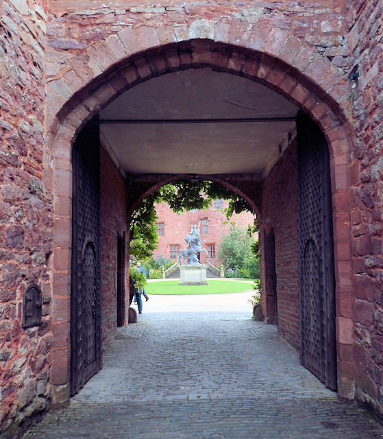 Gateway to courtyard at Powis Castle