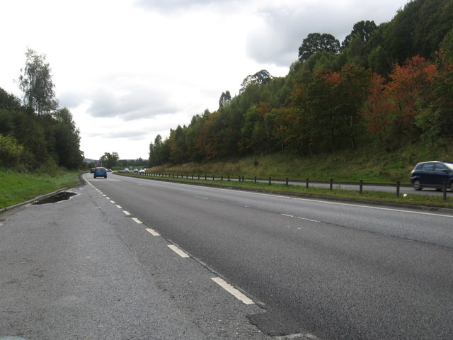 A9 heading south from lay-by no. 2